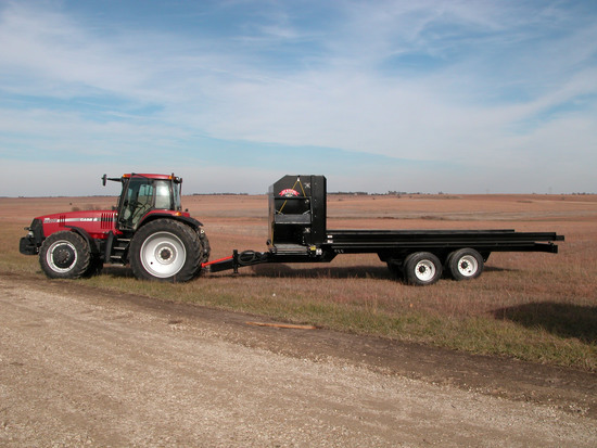 Twelve  Bale Trailer mount with Tandems